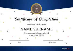 40 Fantastic Certificate Of Completion Templates [Word for Free Printable Graduation Certificate Templates