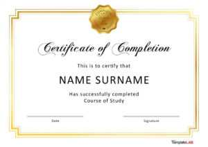 40 Fantastic Certificate Of Completion Templates [Word for Ged Certificate Template Download