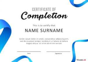 40 Fantastic Certificate Of Completion Templates [Word intended for Attendance Certificate Template Word