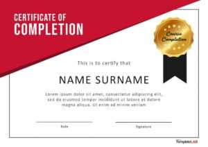40 Fantastic Certificate Of Completion Templates [Word pertaining to 5Th Grade Graduation Certificate Template