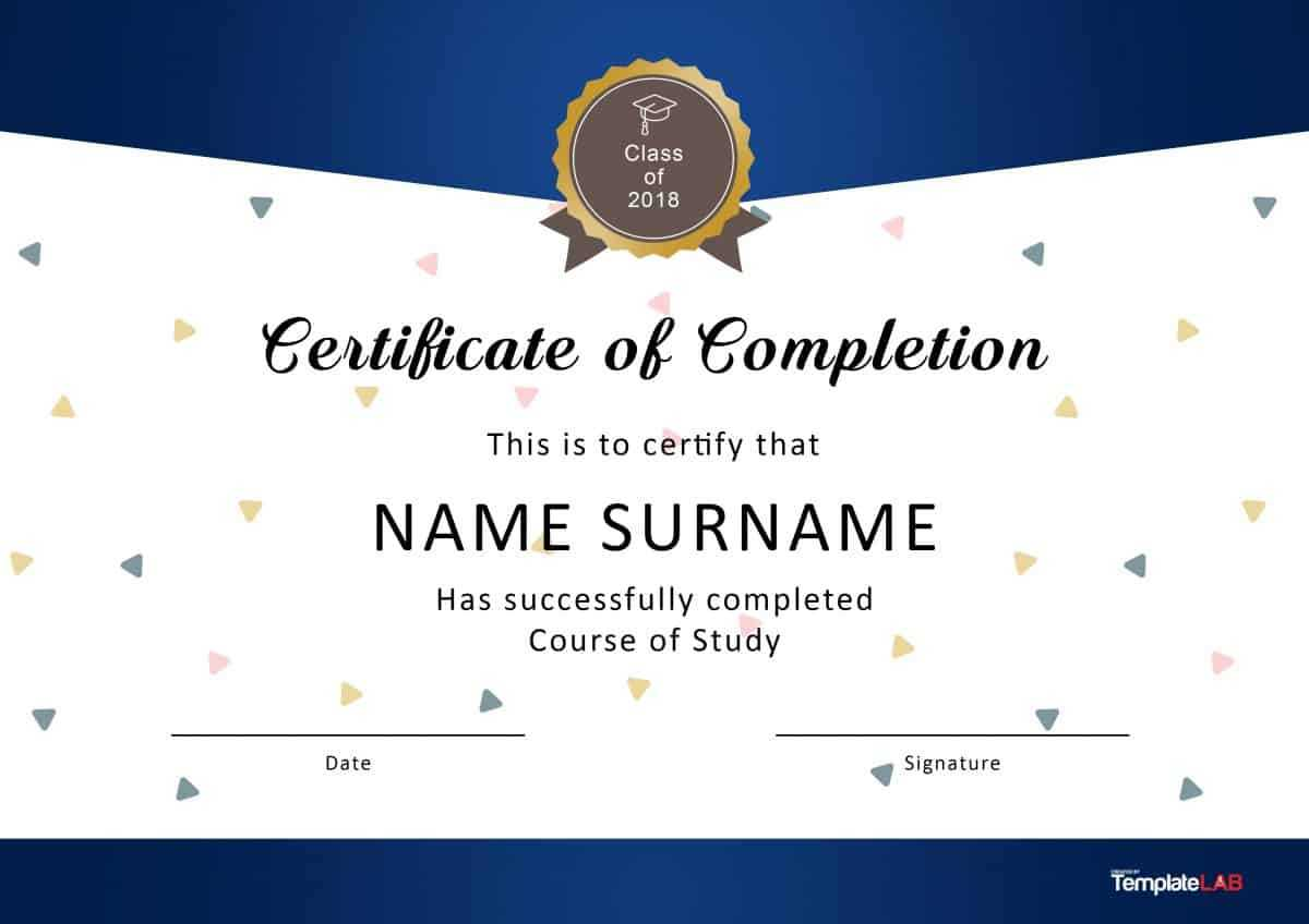 40 Fantastic Certificate Of Completion Templates [Word Pertaining To Classroom Certificates Templates