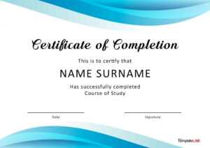 40 Fantastic Certificate Of Completion Templates [Word pertaining to Template For Training Certificate