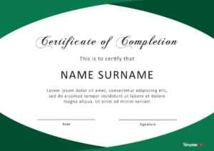 40 Fantastic Certificate Of Completion Templates [Word regarding Promotion Certificate Template