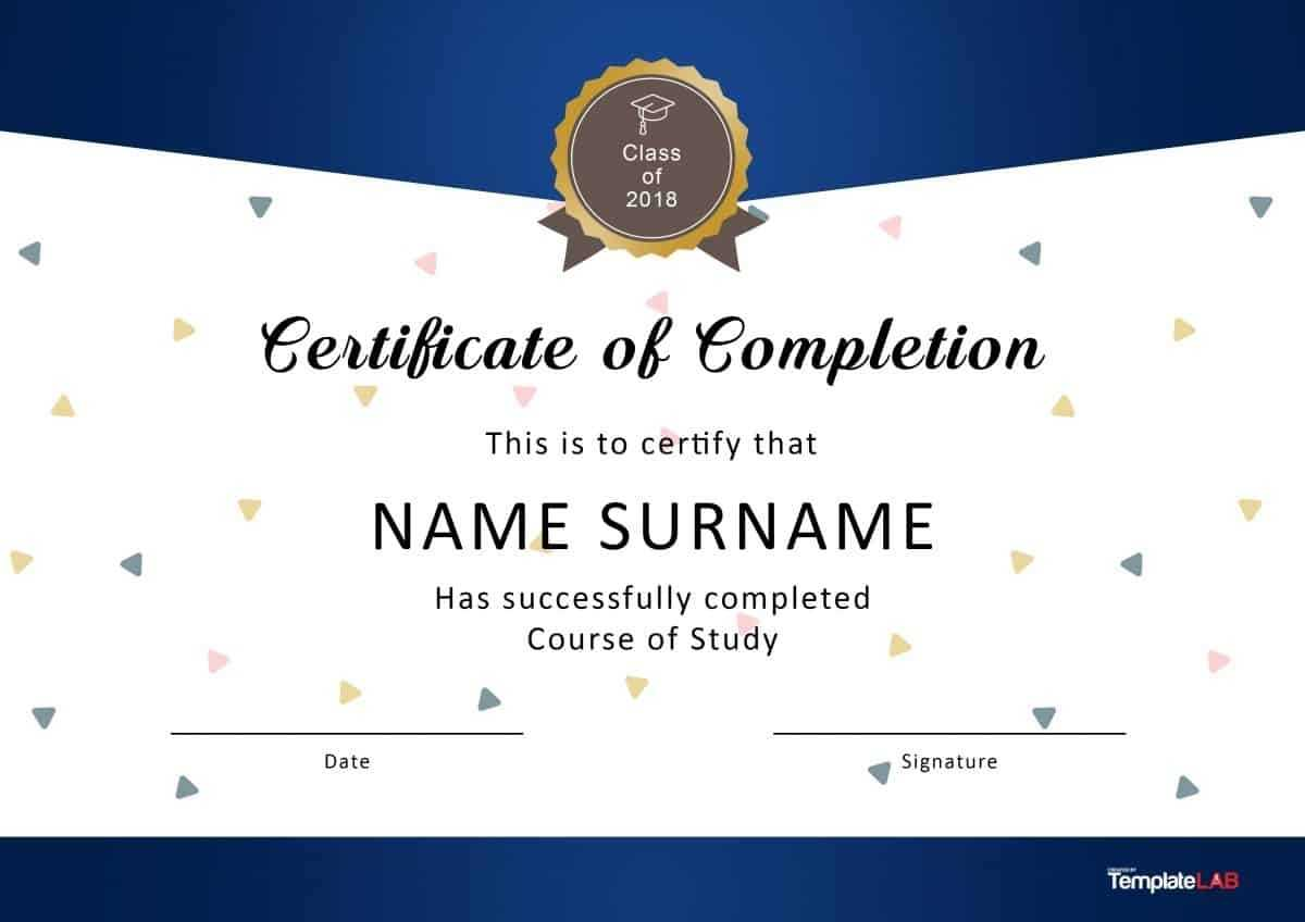 40 Fantastic Certificate Of Completion Templates [Word With For Certificate Of Completion Word Template