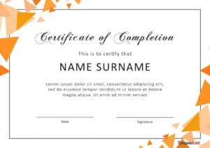 40 Fantastic Certificate Of Completion Templates [Word with Free Completion Certificate Templates For Word