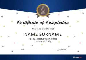 40 Fantastic Certificate Of Completion Templates [Word With pertaining to Certification Of Completion Template