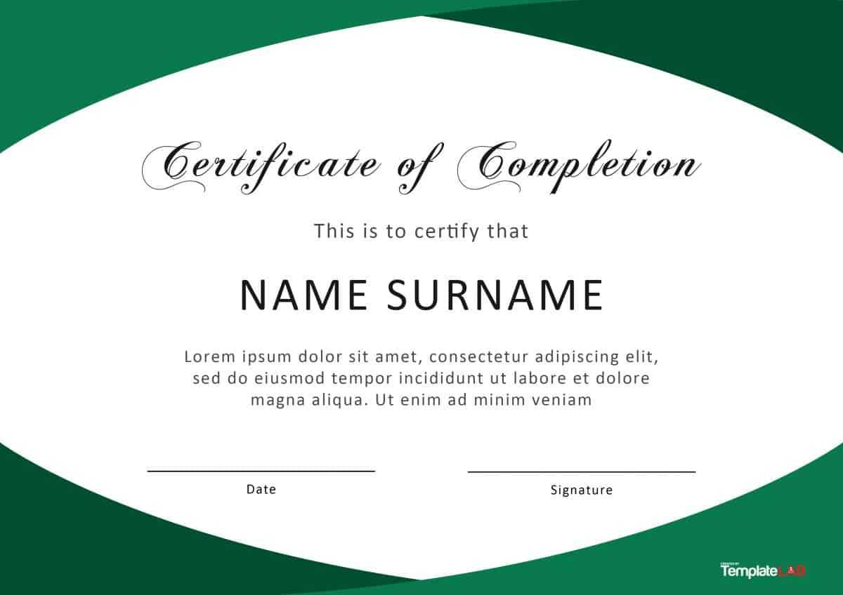 40 Fantastic Certificate Of Completion Templates [Word Within Certificate Templates For Word Free Downloads