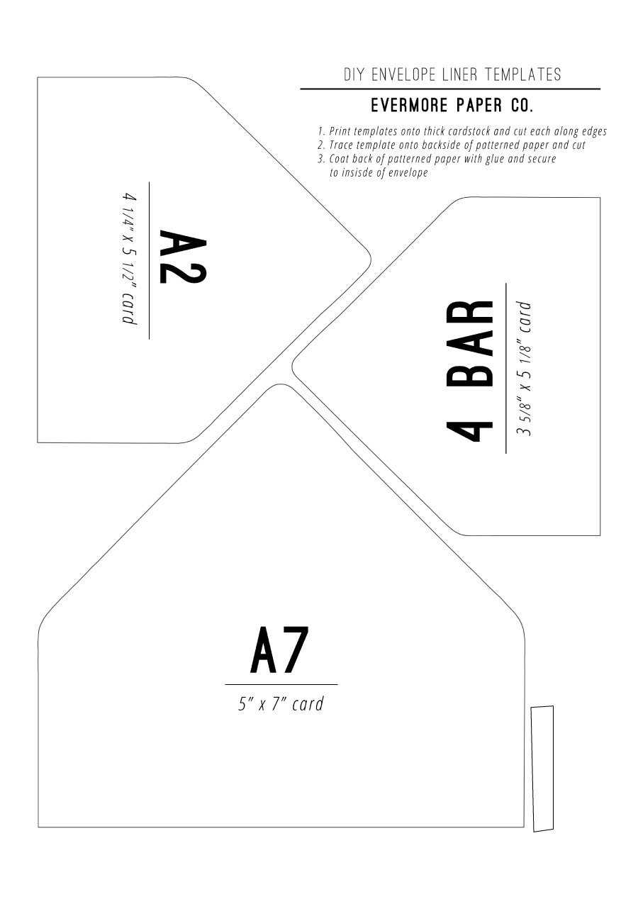 40+ Free Envelope Templates (Word + Pdf) ᐅ Templatelab Within Envelope Templates For Card Making