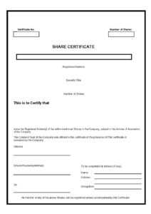40+ Free Stock Certificate Templates (Word, Pdf) ᐅ Templatelab throughout Corporate Share Certificate Template