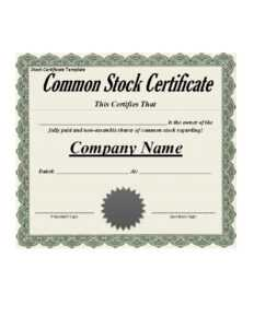 40+ Free Stock Certificate Templates (Word, Pdf) ᐅ Templatelab with Corporate Bond Certificate Template