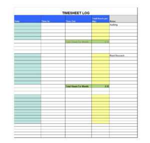 40 Free Timesheet Templates [In Excel] ᐅ Templatelab in Sample Job Cards Templates