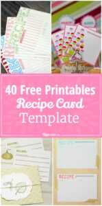 40 Recipe Card Template And Free Printables – Tip Junkie In Cookie Exchange Recipe Card Template