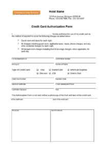 41 Credit Card Authorization Forms Templates {Ready-To-Use} for Credit Card Authorisation Form Template Australia