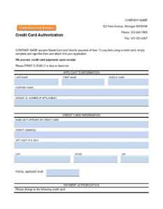 41 Credit Card Authorization Forms Templates {Ready-To-Use} inside Credit Card On File Form Templates