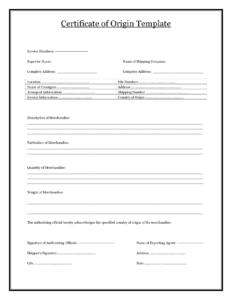 41+ Free Certificate Of Origin Templates In Word Excel Pdf within Certificate Of Origin Template Word