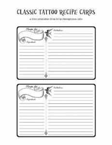 44 Perfect Cookbook Templates [+Recipe Book & Recipe Cards] with Fillable Recipe Card Template