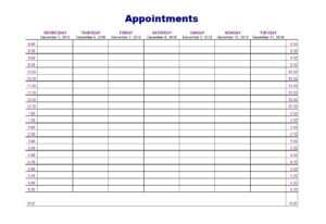 45 Printable Appointment Schedule Templates [& Appointment intended for Medical Appointment Card Template Free