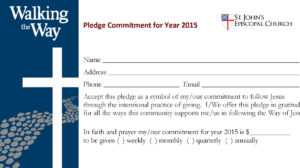 4570Book | Church Building Campaign Pledge Cards Clipart In in Building Fund Pledge Card Template