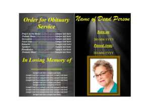 47 Free Funeral Program Templates (In Word Format) ᐅ inside Memorial Brochure Template