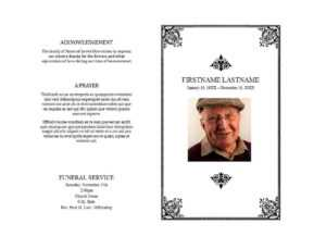 47 Free Funeral Program Templates (In Word Format) ᐅ intended for Memorial Card Template Word