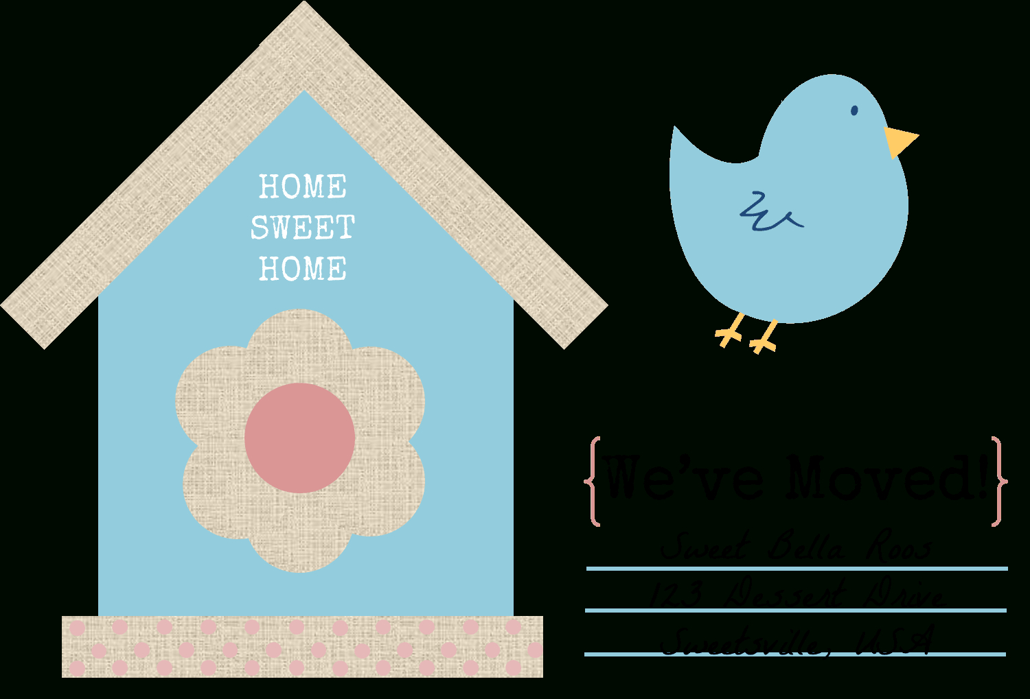 49 Free Change Of Address Cards (Moving Announcements) Pertaining To Moving Home Cards Template