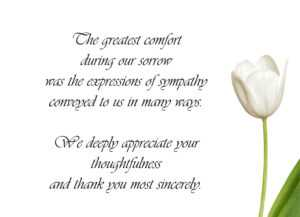 49 Visiting Thank You Card Template For Funeral For Ms Word regarding Sympathy Thank You Card Template