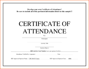 5+ Certificate Of Attendance Templates – Word Excel Templates throughout Conference Certificate Of Attendance Template