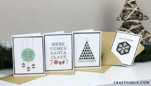 5 Easy Diy Christmas Cards · Crafty Julie within Print Your Own Christmas Cards Templates