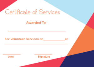 5+ Free Printable Certificate Of Service Templates | How To Wiki intended for Certificate Of Service Template Free