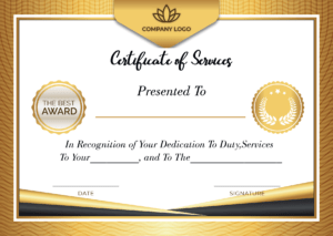 5+ Free Printable Certificate Of Service Templates   How To Wiki pertaining to Certificate For Years Of Service Template