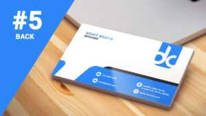 #5 How To Design Business Cards In Photoshop Cs6 | Professional | Back for Photoshop Cs6 Business Card Template