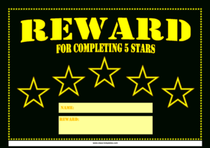 5 Star Printable Reward Certificate   Templates At with Star Naming Certificate Template