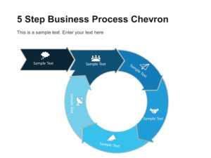 5 Step Business Process Chevron Diagram Template   Chevron with regard to Powerpoint Chevron Template