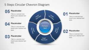 5 Steps Circular Chevron Powerpoint Diagram inside Powerpoint Chevron Template