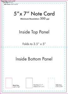 """5"""" X 7"""" Note Card Template – U.s. Press pertaining to 3 By 5 Index Card Template"""