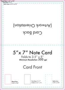 "5"" X 7"" Note Card Template – U.s. Press throughout Blank Index Card Template"
