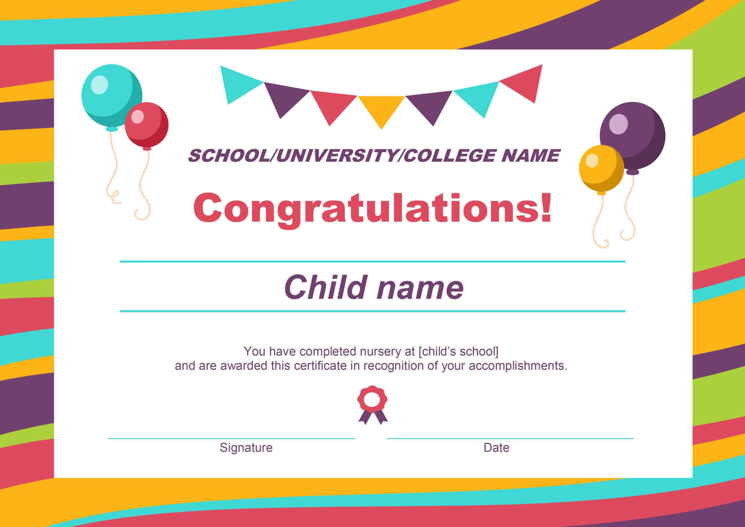50 Free Creative Blank Certificate Templates In Psd In Free Printable Certificate Templates For Kids