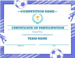 50 Free Creative Blank Certificate Templates In Psd in Soccer Certificate Templates For Word