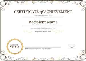 50 Free Creative Blank Certificate Templates In Psd intended for Word Certificate Of Achievement Template