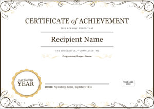 50 Free Creative Blank Certificate Templates In Psd regarding Free Completion Certificate Templates For Word
