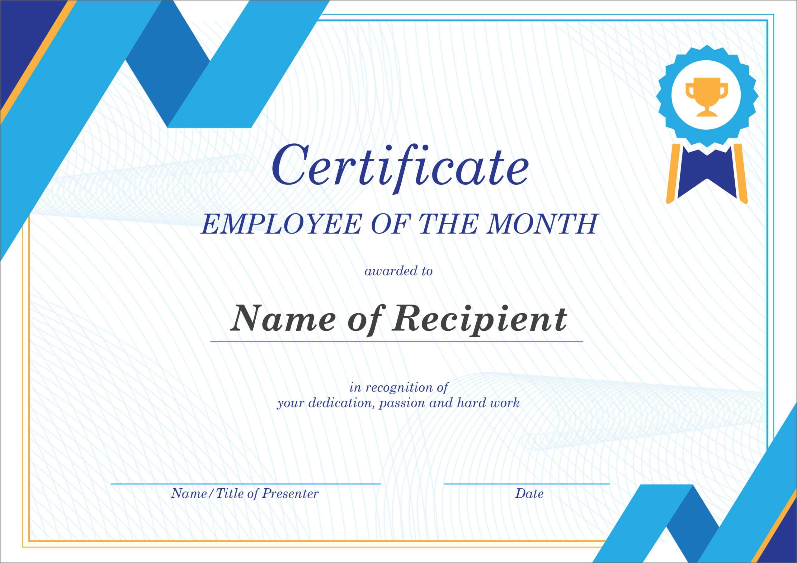 50 Free Creative Blank Certificate Templates In Psd With Regard To Employee Anniversary Certificate Template