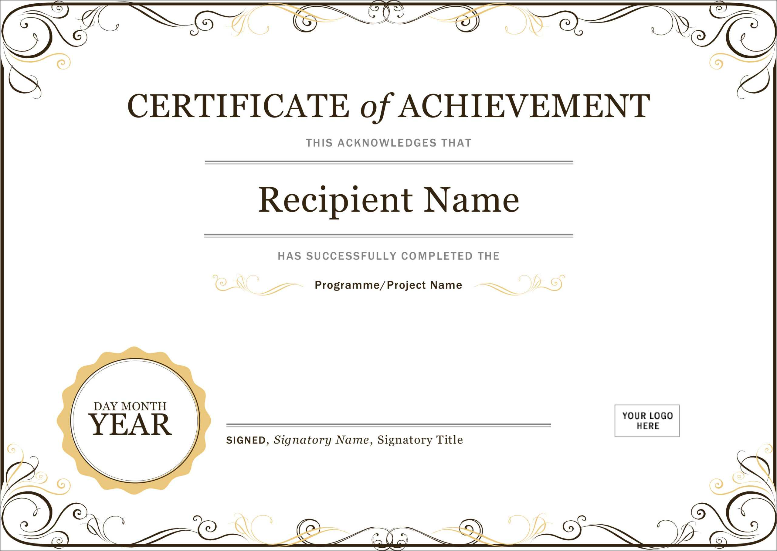 50 Free Creative Blank Certificate Templates In Psd Within Certificate For Years Of Service Template