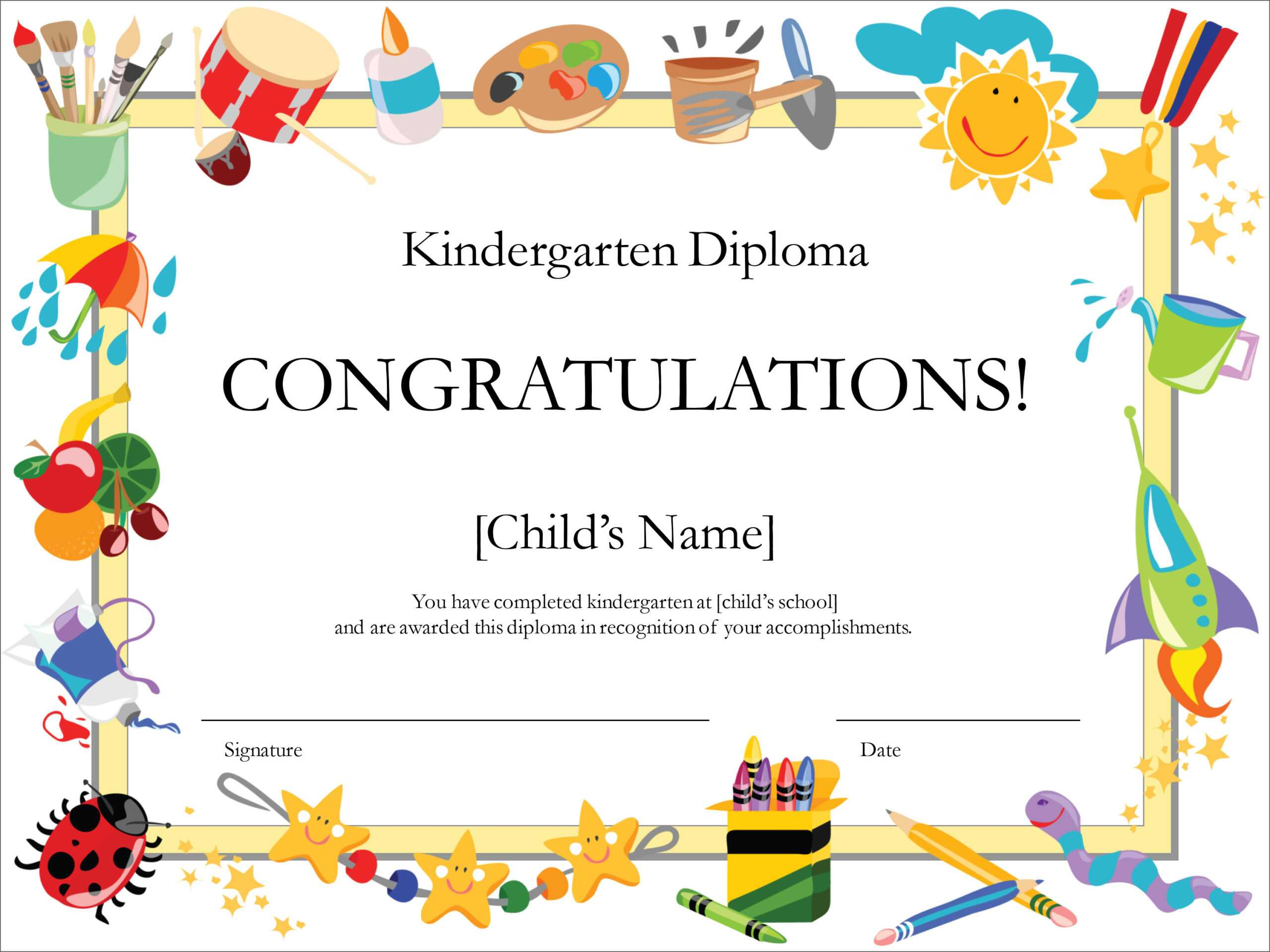 50 Free Creative Blank Certificate Templates In Psd Within Free School Certificate Templates