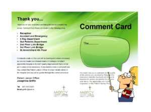 50 Printable Comment Card & Feedback Form Templates ᐅ in Comment Cards Template