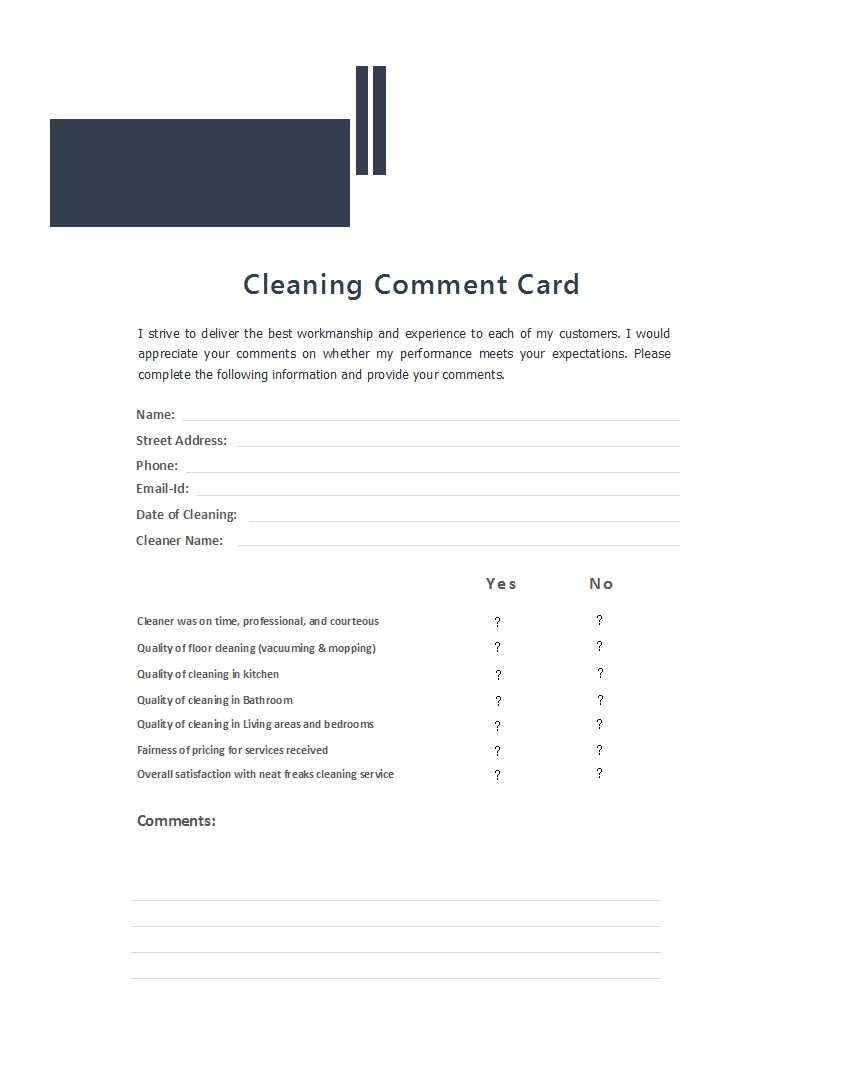 50 Printable Comment Card & Feedback Form Templates ᐅ Inside Survey Card Template