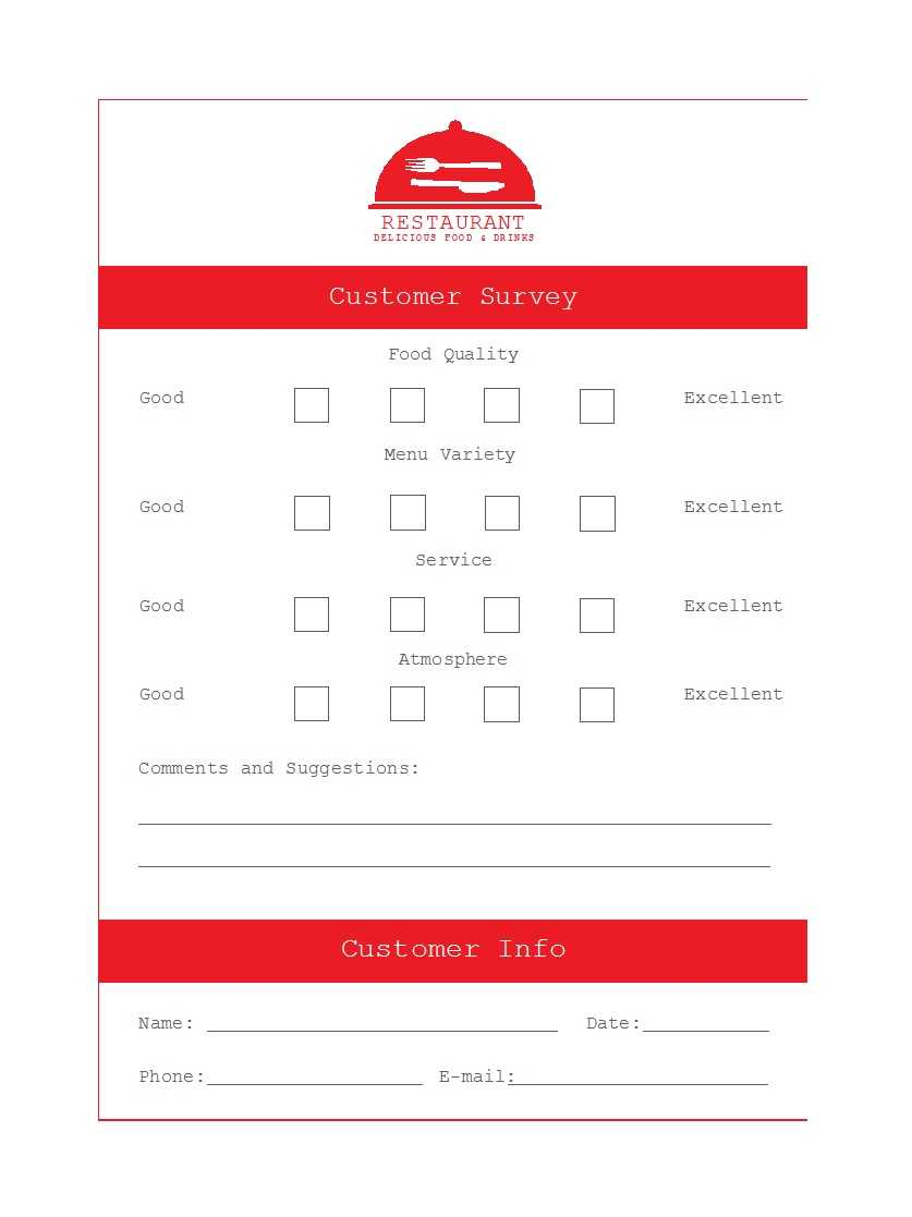 50 Printable Comment Card & Feedback Form Templates ᐅ Throughout Customer Information Card Template