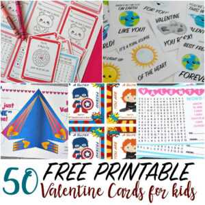50 Printable Valentine Cards For Kids regarding Valentine Card Template Word