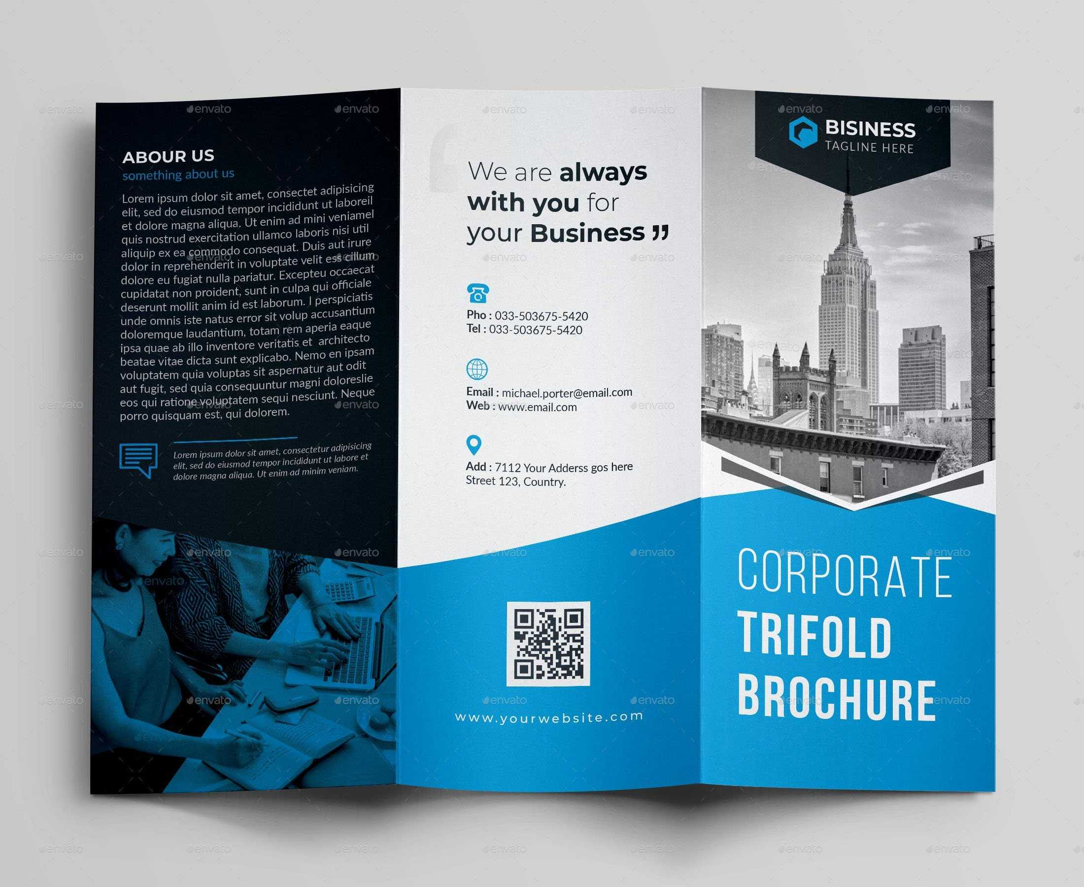 50+Premium & Free Psd Tri Fold Brochureb Templates For Throughout Architecture Brochure Templates Free Download