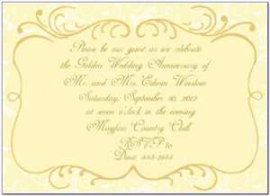 50Th Wedding Anniversary Invitation Templates Microsoft Word within Anniversary Card Template Word