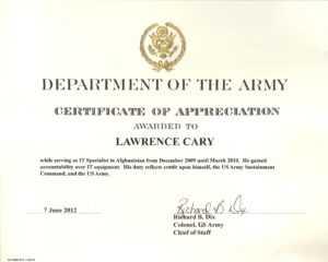 6+ Army Appreciation Certificate Templates – Pdf, Docx in Farewell Certificate Template